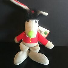 "Tyco Beans Sesame Street Benny Rabbit Bean 10"" Stuffed Toy Plush Vintage 1997"
