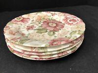 """Set of 5 Nikko/Blossom Time/Summer Glade Salad/Dessert plates 7 3/4"""" Pink Floral"""