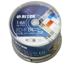 10 PCS/Pack - RITEK BD-R 50GB BDR Disc Printable Blue-ray BD-R Blank disc DVD