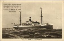 SS Cottica c1915 Postcard ROYAL NETHERLANDS STEAMSHIP CO