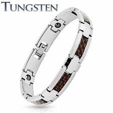 Tungsten Carbide Bracelet - Magnetic Pain Relieve Men Bracelet Carbon Fiber