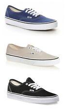 VANS scarpe da uomo donna skate Authentic silver nere navy sneakers tela estive
