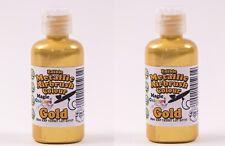 2 Pots of Magic Colours Metallic Airbrush metallic Gold - 55ml