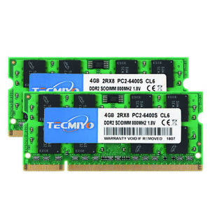 Upgrade 8GB 2X 4GB PC2-6400S DDR2-800 MHz 200pin RAM SO-DIMM Laptop Memory B307