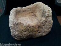 Bebedero de Piedra Abrevadero gallinero siglo XVlll Jardinera Decoración Museo