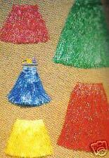 1 Jupe Hawai  40 cm plastique couleur assortie DEGUISEMENT promo