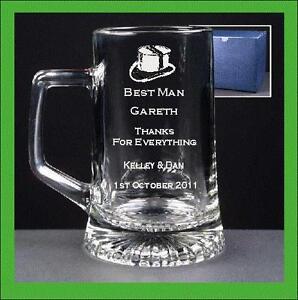 Personalised Engraved Beer Glass Tankard Usher Gift