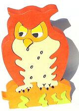 Owl Handmade 3D Children's Wooden Jigsaw Puzzle Toy Game Bird