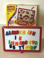 Quercetti Magnetino Magnetic Letters and White Board ABC Alphabet Magnets Box