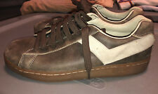 RARE Vintage PONY Brown Leather Shoes Mens 9.5 USed with scuffs