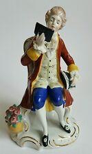 VINTAGE TEDESCO STATUETTA in porcellana figura con imitazione Meissen Mark ref: S