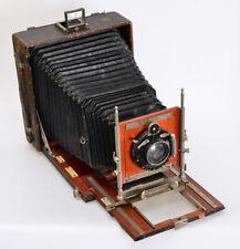 "HÜTTIG Reisekamera Modell 1907 + Doppel-Anastigmat ""Lloyd"" 1:6,8 Foc. 180 (2208"