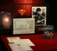 SUPERMAN STORYBOARD, Signed MARGOT KIDDER, ZOD, COA UAC, Frame, DVD, Real CAPE!