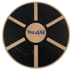 "Yes4All Wooden Balance Board Round Circular 15.5"" Wobble Balance Board Fitness"