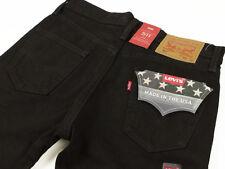 Levis 511 Made in USA White Oak Mills Cone Denim Jeans Slim Fit Black #2299