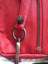 Alexander Wang Fumo Red Leather Wristlet Wallet Hardware