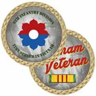 """ARMY VIETNAM VETERAN RIBBON 9TH INFANTRY DIVISION MILITARY 1.75"""" CHALLENGE COIN"""