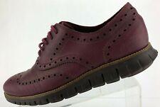 Cole Haan Zerogrand Wingtip Oxfords Burgundy Dress Shoes Brogue Mens US 11 M