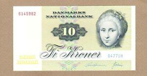 DENMARK: 10 Kroner Banknote,(UNC),P-48g, 1977,No Reserve!