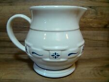 Longaberger Pottery - Woven Traditions Classic Blue - 1 Qt. 32 Oz. Pitcher