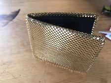 Vintage Whiting & Davis Gold Mesh Bi-Fold Wallet New Condition