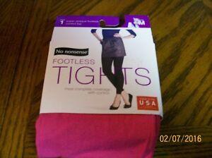 NO NONSENSE FOOTLESS TIGHTS PINK / BRILLANT ROSE S-XL
