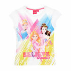 DISNEY t-shirt PRINCESSES Cendrillon Belle Raiponce 3 4 5 ou 6 ans rose NEUF
