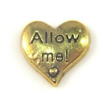 Floating Charms Mini Charm Living Memory Locket Pendant Hearts Gold Allow Me 9mm