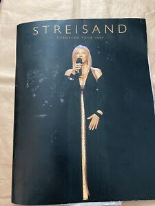 Barbra Streisand Concert programme Manchester Arena 2010 - Ticket And MEN Review