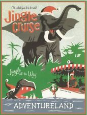 "DISNEY POSTER - JINGLE CRUISE DISNEYLAND AD 8.5"" x 11"""