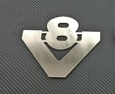 Scania Truck Polished Stainless Steel V8 Badge Chrome Accessories Adhesive Sign