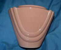 INARCO 1985 Art Deco, Narrow Triangle Drapes ceramic, Coral Planter