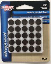 Shepherd 9949 3/8-Inch Self-Adhesive Felt Furniture Pads, 75-Pack, Brown
