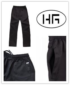 Chef Pants Classic Black Uniform Poly-cotton Hospitality Garments
