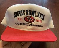 Vintage 1994 American Needle SF 49ers SuperBowl XXIX Champions Snapback Hat
