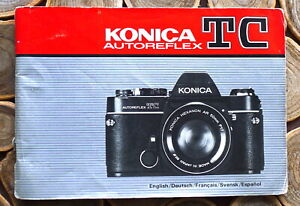 Konica TC Camera Instruction manual booklet - English & 4 more 79 Pages