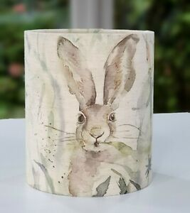 Voyage Maison JACK RABBIT fabric countryside hare linen drum lampshade 15cm