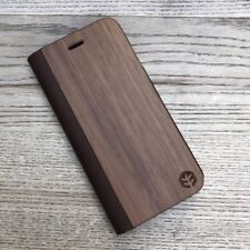 Apple iPhone 8 Plus (8+) Walnut Leather Flip Case | OXSY