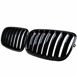For BMW X5 X6 E70 E71 2007-2013 Painted Glossy Black Front Grille Grill Kidney