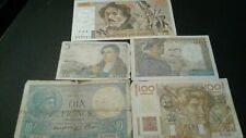 World Old Bank notes France Scarce currency 225 Francs 1939/1943/1947/1951/81!