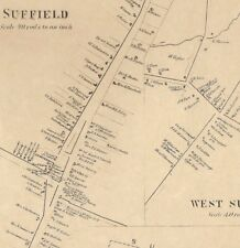 Suffield Thompsonville Congamond Lake CT 1869 Maps with Homeowners Names Shown