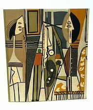 mid century modern room divider after pablo picasso's artist and model cubist