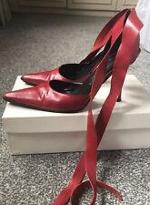 Señoras Russell & Bromley Rojo Zapatos Talla 3