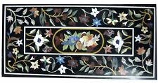 """48"""" x 24"""" Pietra dura Inlay Work Marble Coffee Table Top  Home Room Decor"""