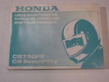 HONDA CB750 SEVENFIFTY 1996 OWNER MANUAL DEL PROPIETARIO  INSTRUKTIEBOEK