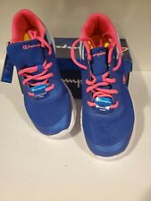 Champion Gusto XT II blue & pink Athletic Girl's Shoe Sneaker Size 5 Youth