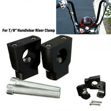 Universal 7/8″ 22mm Black Motorcycle Handle Bar Mounting Handlebar Riser Clamp u