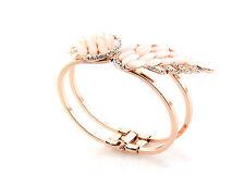 Winged Bangle with Cats' Eye Stone and Diamantes Rose Gold Spring Gate UK