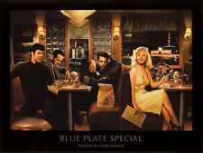 Chris Consani Blue Plate Special Movie Stars Cafe Print Poster 11x14