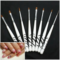 8x/set 3d malerei zeichnung uv gel diy nail art pinsel stift salon maniküre Tn